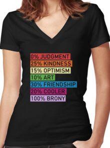 100% BRONY - MLP Women's Fitted V-Neck T-Shirt