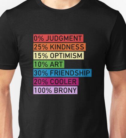 100% BRONY - MLP Unisex T-Shirt