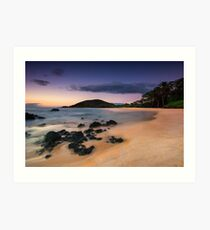 Big Beach Sundown - Maui Art Print