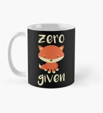 Best funny gift - Coffee Mug - Zero Fox Given - Perfect for birthday, men, women, him, her, dad, mom, son, daughter, sister, brother, wife, husband Classic Mug