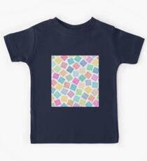 Colorful Geometric Background Kids Tee