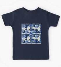 Pansy Square - Blue Kids Tee