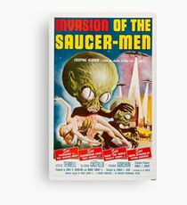 Invasion of the Saucer-Men - Horror Sci-Fi Movie Vintage Poster Canvas Print