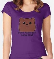 Don't Mess With Mama Bear - Brown Bear Women's Fitted Scoop T-Shirt