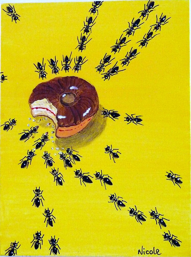 Ants and doughnut by nickette