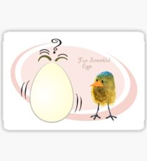 Two Scrambled Eggs Sticker