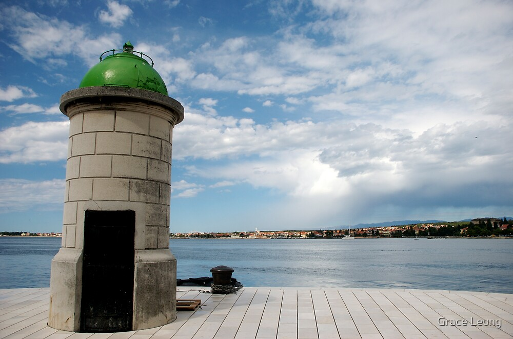 Lighthouse in Zadar, Croatia by Grace Leung