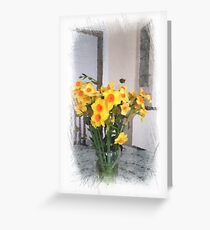 Daffodils in vase ... still life Greeting Card