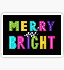 Neon Merry and Bright Sticker