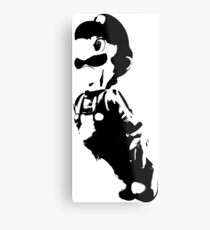 Weathered Luigi Metal Print