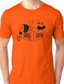 Free Bears! - black lines Unisex T-Shirt