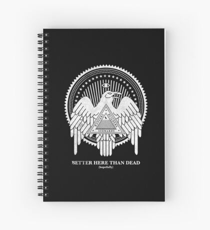 Now my watch begins (Snow Raven Edition) Spiral Notebook