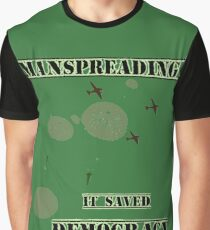 Manspreading Saved Democracy Graphic T-Shirt