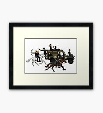 The 100- Adventure Squad- No Background Framed Print