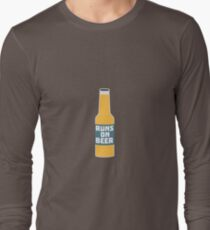 Runs on Beer Bottle Rcy3l T-Shirt