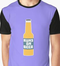 Runs on Beer Bottle Rcy3l Graphic T-Shirt