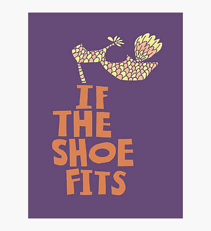 If the Shoe Fits Retro footwear with1960s style Type Photographic Print