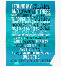 Ed Sheeran - Castle on the Hill Lyric Poster/Print/Journal Poster