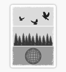 Earth Day Grey Scale Illustration Sticker
