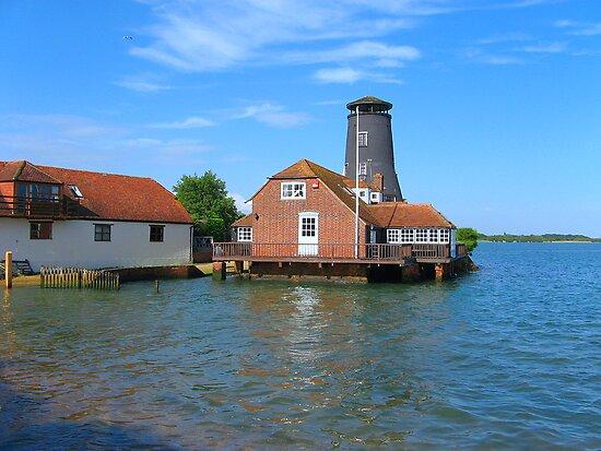 The Redundant Windmill - Langstone Harbour by Sharon Perrett
