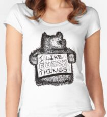 I Like Fuzzy Things Women's Fitted Scoop T-Shirt