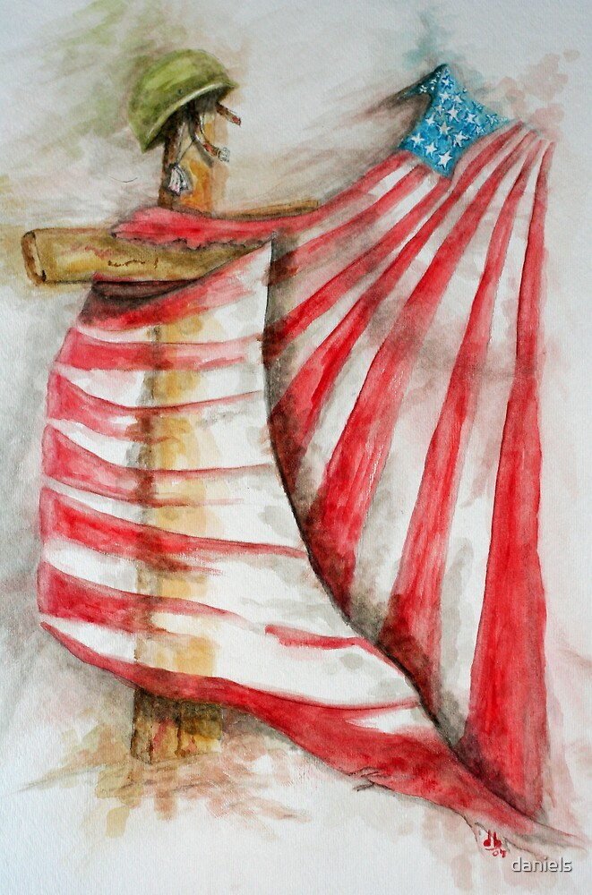 God & Country_our Flag_ tattered & torn, but still whole! by daniels
