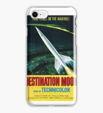 Destination Moon - vintage movie poster iPhone Case/Skin