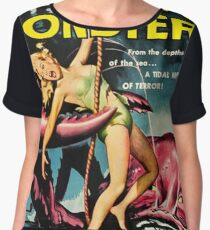 Attack of the Crab Monsters - vintage movie poster Women's Chiffon Top