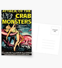 Attack of the Crab Monsters - vintage movie poster Postcards