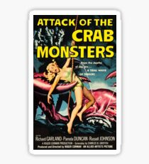 Attack of the Crab Monsters - vintage movie poster Sticker