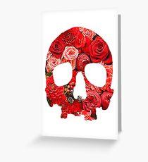 Flower Skull Greeting Card
