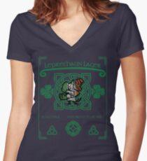 Leprechaun Lager Women's Fitted V-Neck T-Shirt