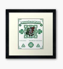 Leprechaun Lager Framed Print