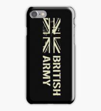 British Army (Black Flag) iPhone Case/Skin