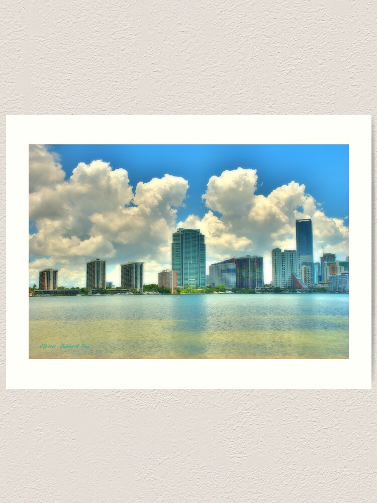 Alternate view of Brickell Bay Art Print