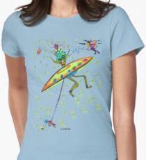 Alien Landing Womens Fitted T-Shirt