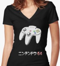 64 CONTROLLER Women's Fitted V-Neck T-Shirt