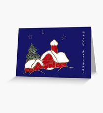 winter night - holiday Greeting Card