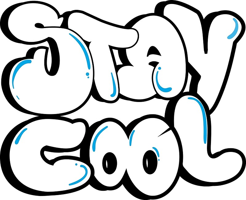 "Stay Cool Bubble Letters"" Canvas Prints by BaezArtworks 
