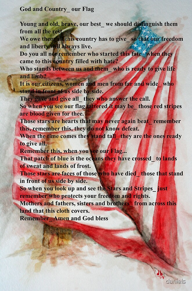God and Country_our Flag_2 by daniels