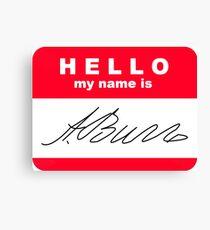 Lienzo Hola mi nombre es Aaron Burr