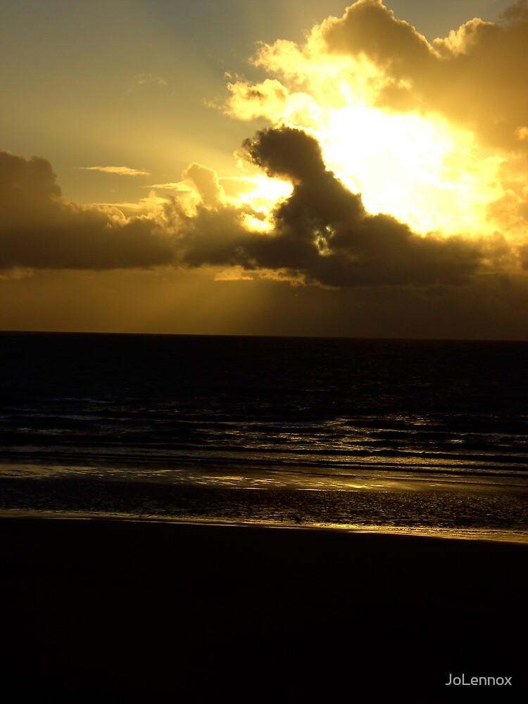 Golden Sun Set by JoLennox