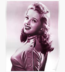 Diana Dors vintage color Poster