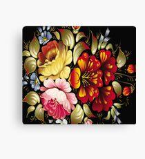Beautiful Floral Print Design Canvas Print