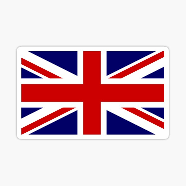 British Bulldog Spirit Blue Fridge Magnet Union Jack Flag UK GB Souvenir Gift