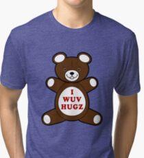 Supernatural I WUV HUGS - Cosplay Tri-blend T-Shirt