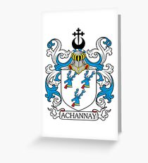 Achannay Coat of Arms Greeting Card
