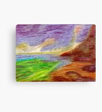 Mountain Coast Canvas Print