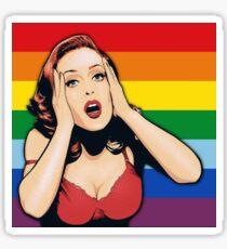 Gillian Anderson Pride Sticker