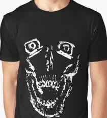 Inverse Screaming Skull Graphic T-Shirt